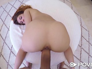 POVD - Little hottie Sally Squirt sucks a big dick in hot tub
