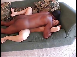 White slut fucking black pecker