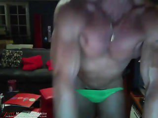 Bodybuilder Jake Meyers Lime Posers
