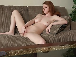 Cute Redhead Abbey Rain Masturbating