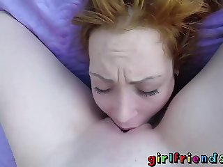 Girlfriends Slim shaved pussy eating lovers