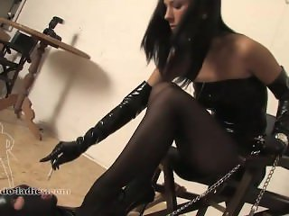 Cigarette Break - Mistress with Slave Boy