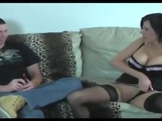 Dirty talking Mom shows Her cunt hole to son!! Funny but hot!!