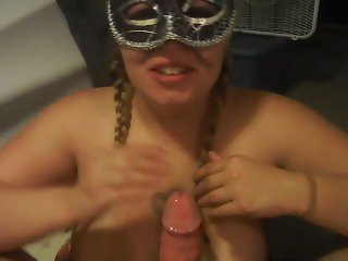 Mary from DATES25.COM - Kinky masked bbw blowjob