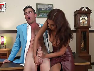 Lance Hart fucks his secretary Jade Jantzen PANTYHOSE SEX