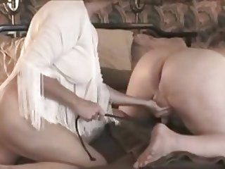 Busty bbw is pegging senior guy nt