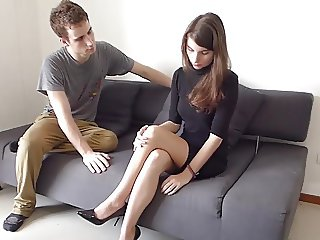 STP3 Sexy Babe Gets Blackmailed Into Fucking !