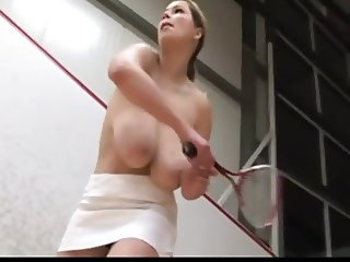 Fabulous Natural Knockers doing sports