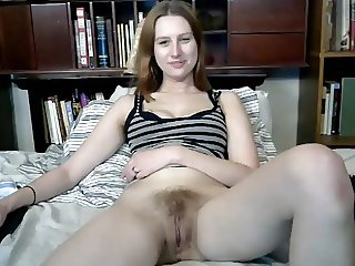 Favourite hairy girl gets her dildo out again