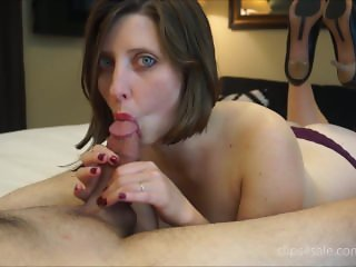 Sexy Wife Licks and Suck Cock Wearing Heels