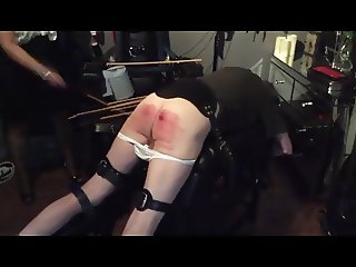 A painful 200 stroke caning
