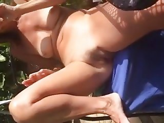 wife in the garden