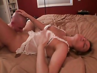 luxury blonde wants petting on bed