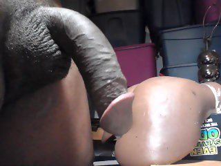 BUSTING 3 NUTS IN AND OUT OF MY BLACK TOY PUSSY ( PART 1) 12/30/2016
