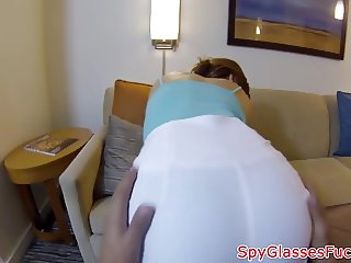 Babe POV fucked on spycam by stranger