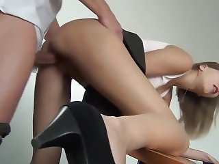 Hot Redhead Ass Fucked In The Office