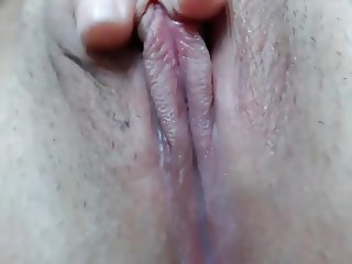 Extreme close wet pussy play
