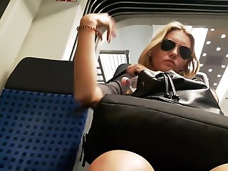 blond germany model upskirt bus feet toes