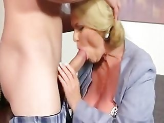 Fat Granny Secretary Enjoys Fuck And Creampie