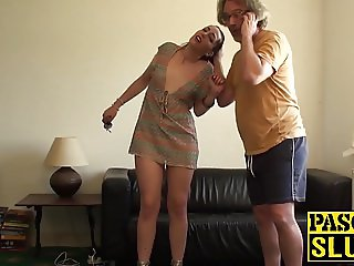 Dirty slut Liz punished hard by Pascal