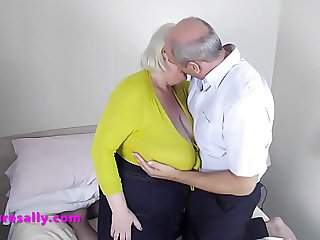 A lucky guy gets his hands full of Sally