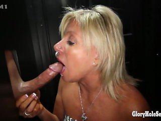 Payton Hall at Gloryhole swallowing cum