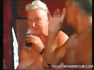 Velvet Swingers Club Granny gangbang party