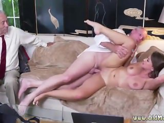 Old man cum in pussy and daddy ally's