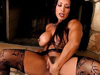 Sexy cougar with big clit