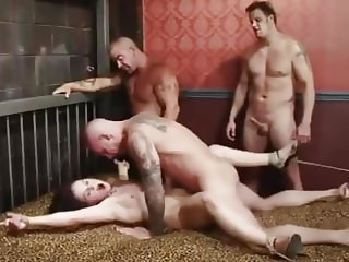 White Woman Ten White Men Hard Bound Crying Gangbang