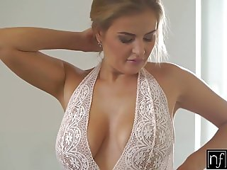 NF Busty - Big Tit Blonde Fucks Roommates Huge Cock