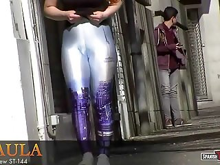 Cameltoe girl walking the streets