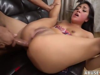Extreme big anal Rough rectal hook-up for