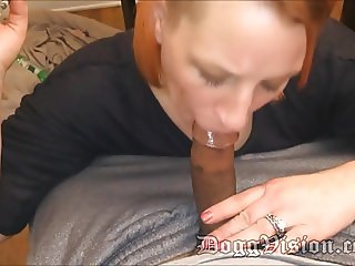 Cheating Redhead GILF Gives Smoking Blowjob