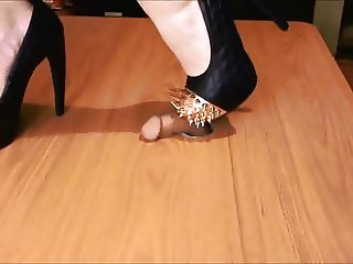 my new battle spike heels fighting a penis