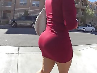Big Booty Milf Model Walking