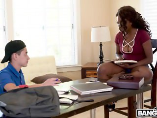 Hot Ebony Daya Knight Fucks With Teenager