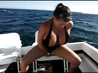 Big Boobs Bouncing On Boat