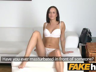 Fake Agent Pretty brunette with brown eyes cheats on her bf