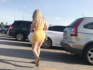 Big Butt Latina Slut in Yellow Dress