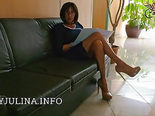 Office Mistress High Heels Nylons Job Interview Lecksklave