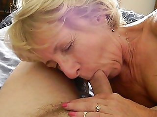 Sexy Granny Sensual Sucking
