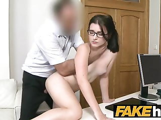 Fake Agent Tight amateur in glasses creampie porn casting