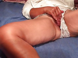 White lacy panties