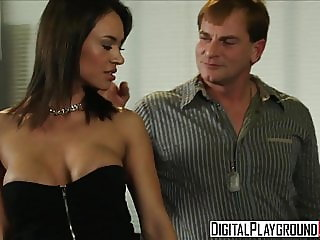 Dirty assistant Franceska Jaimes fucks her boss on his desk