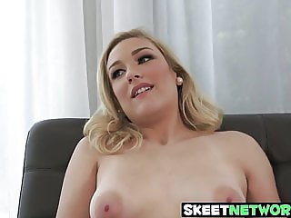 Teen Daisy Lynne pounded and blasted with warm jizz