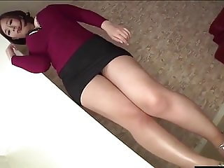 Asian $5 whore with thick legs in high heels
