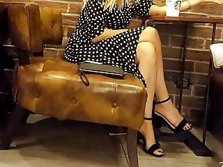 candid girl hot legs sexy feets toes in high heels