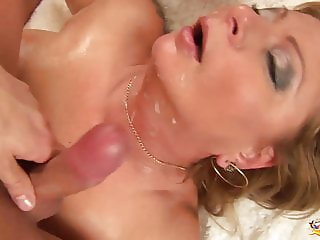 chubby oiled mom rough fisted
