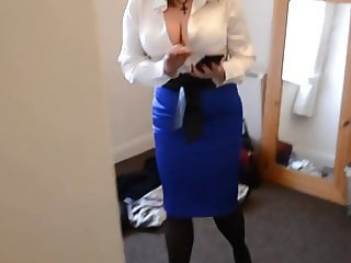 Satin Blouse Satin Skirt (no nudity)